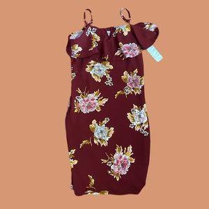 Floral bodycon dress size xl